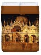 Basilica Di San Marco Duvet Cover by George Buxbaum