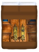 Basilica Door Knobs Duvet Cover