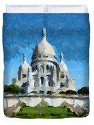 Basilica Sacred Heart- Paris Duvet Cover