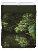 Basilisk Lizard Duvet Cover