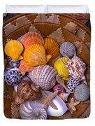 Basket Full Of Seashells Duvet Cover