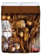 Basket Maker - I Like Weaving Duvet Cover by Mike Savad
