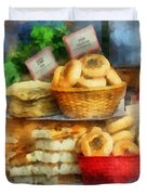 Basket Of Bialys Duvet Cover