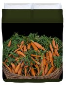 Basket Of Carrots Duvet Cover