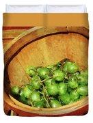 Basket Of Green Grapes Duvet Cover by Susan Savad