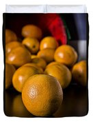 Basket Of Oranges Duvet Cover by Jeff Burton