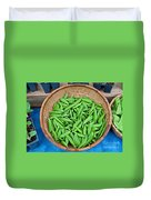 Basket Of Organic Fresh Sugar Snap Peas Art Prints Duvet Cover