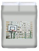 Basketball Court In A Social Neighbourhood Duvet Cover