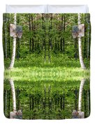 Basketball Forest Court Reflection 1 Duvet Cover