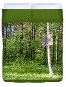 Basketball Forest Court Duvet Cover