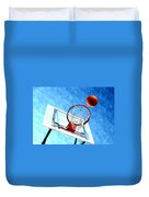 Basketball Hoop And Ball 1 Duvet Cover by Lanjee Chee