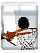 Basketball Hoop And Ball Duvet Cover