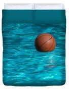 Basketball In The Pool  Duvet Cover