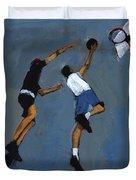 Basketball Players Duvet Cover