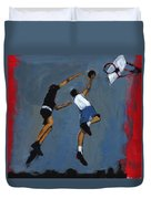 Basketball Players Duvet Cover