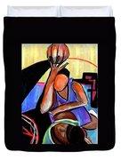 Basketball Practice Duvet Cover by JAXINE Cummins