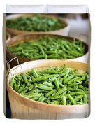 Baskets Of Fresh Picked Peas Duvet Cover