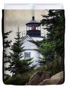 Bass Harbor Head Light Duvet Cover