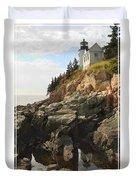 Bass Harbor Head Lighthouse Duvet Cover by Mike McGlothlen