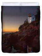 Bass Head Harbor Lighthouse Duvet Cover