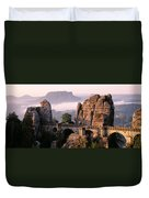Bastei, Saxonian Switzerland National Duvet Cover