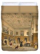 Bat Game In The Grand Hall, Parham Duvet Cover
