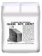 Bath Cabinet, 1897 Duvet Cover