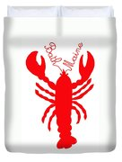Bath Maine Lobster With Feelers Duvet Cover