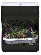 Bath Tub Flowers Duvet Cover