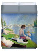 Bathers In Asnieres Duvet Cover