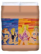 Bathing Beauties  Duvet Cover by Don Larison