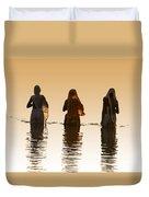 Bathing In The Holy River 2 Duvet Cover