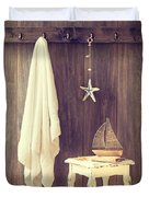 Bathroom Interior Duvet Cover by Amanda Elwell