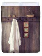 Bathroom Wall Duvet Cover by Amanda Elwell