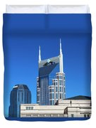 Batman Building And Nashville Skyline Duvet Cover