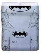 Batman Mask Patent Duvet Cover