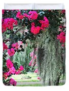 Baton Rouge Louisiana Crepe Myrtle And Moss At Capitol Park Duvet Cover