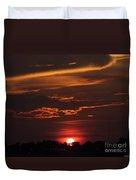 Baton Rouge Sizzling Sunday Sunset  Duvet Cover