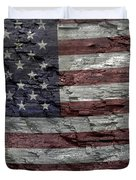 Battered Old Glory Duvet Cover