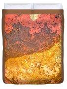 Battered To Rust Duvet Cover
