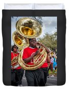 Battered Tuba Blues Duvet Cover