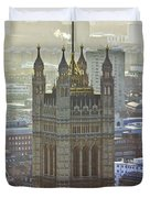 Battersea Power Station And Victoria Tower London Duvet Cover