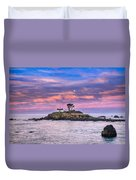 Battery Point Lighthouse And Moon Duvet Cover