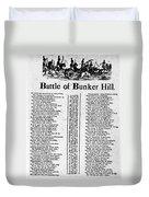 Battle Of Bunker Hill Duvet Cover