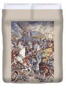 Battle Of Fornovo, Illustration Duvet Cover