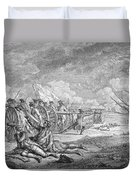 Battle Of Lexington, April 19th 1775, From Recueil Destampes By Nicholas Ponce, Engraved Duvet Cover