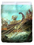 Battle Of Salamis, 480 Bce Duvet Cover