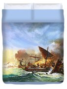 Battle Of Salamis Duvet Cover