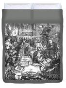 Battle Of Sedan, 1870 Duvet Cover