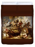 Battle Of The Amazons Duvet Cover